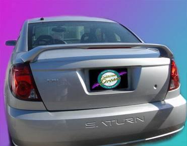 Spoilers - Custom Wing - California Dream - Saturn Ion California Dream Custom Style Spoiler with Light - Unpainted - 26L