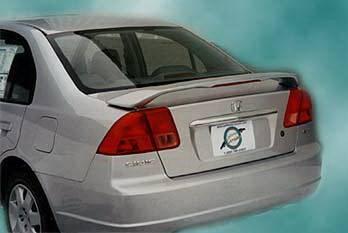 Spoilers - Custom Wing - California Dream - Honda Civic 4DR California Dream OE Style Spoiler with Light - Unpainted - 27L