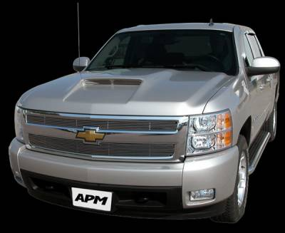 Silverado - Hoods - APM - Chevrolet Silverado APM Plastic Functional Hood - Painted - 801210