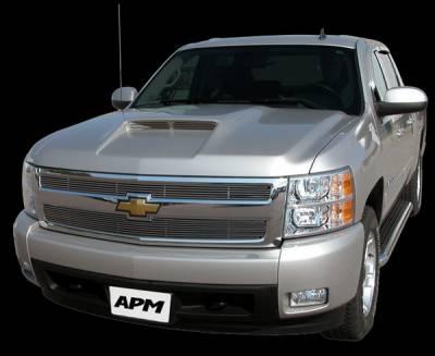 Silverado - Hoods - APM - Chevrolet Silverado APM Plastic Functional Hood - Primed - 801212