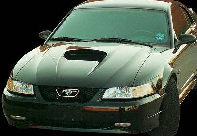 APM. - Ford Mustang APM Fiberglass Non-Functional Hood - Primed - 811122