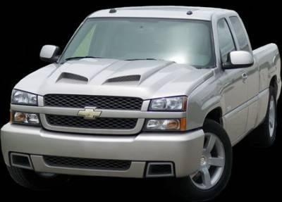 Silverado - Hoods - APM - Chevrolet Silverado APM Fiberglass Functional Hood - Primed - 811222