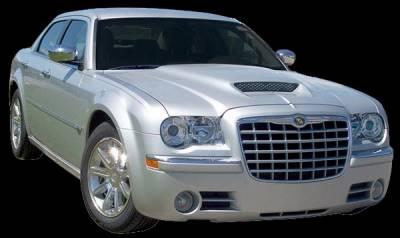 300 - Hoods - APM - Chrysler 300 APM Fiberglass Functional Hood - Primed - 811282