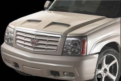 APM. - Cadillac Escalade APM Fiberglass Functional Hood - Painted - 811330