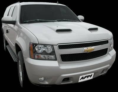 Tahoe - Hoods - APM - Chevrolet Tahoe APM Fiberglass with Z06 Style Scoops Functional Hood - Painted - 811430