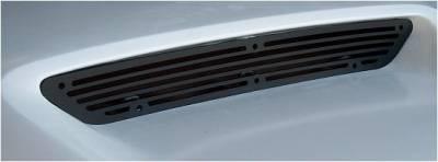 Grilles - Custom Fit Grilles - APM - Dodge Charger APM Black Metal Billet-Style Vent Grille for Fiberglass Style 1 Power Hood - 820011