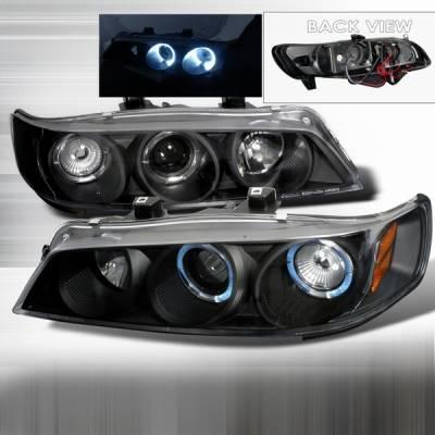 Headlights & Tail Lights - Headlights - Custom Disco - Honda Accord Custom Disco JDM Black Dual Halo Projector Headlights - 1PC - 2LHP-ACD94JM-YD