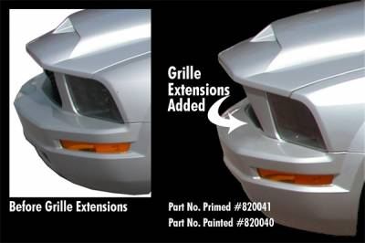 Grilles - Custom Fit Grilles - APM - Ford Mustang APM Fiberglass KR Style Grille Extension - Primed - 820041