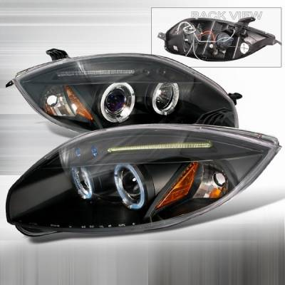 Headlights & Tail Lights - Headlights - Custom Disco - Mitsubishi Eclipse Custom Disco Black LED Projector Headlights - 2LHP-ELP06JMB-TM