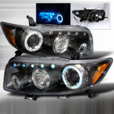 Headlights & Tail Lights - Headlights - Custom Disco - Scion xB Custom Disco Black & Blue Projector Headlights - 2LHP-XB08JMB-TM