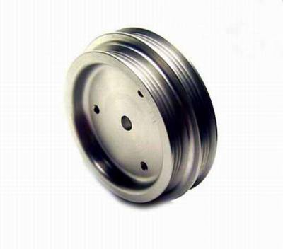 Performance Parts - Pulleys - Auto Specialties - Auto Specialties Water Pump Pulley - Hard Black Aluminum - 890070