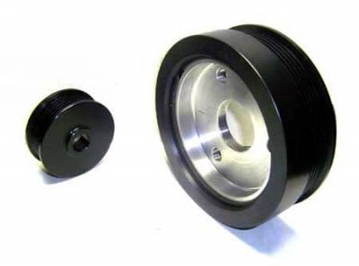 Performance Parts - Pulleys - Auto Specialties - Auto Specialties Harmonic Balancer Pulley with 23 Percent Reduction - Full Charge 900 RPM - Nitride - 945103