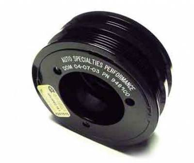 Performance Parts - Pulleys - Auto Specialties - Auto Specialties Harmonic Balancer Pulley with 25 Percent Reduction - Full Charge 900 RPM - Nitride - 948500