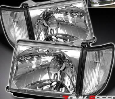 Headlights & Tail Lights - Headlights - Custom - Chrome Euro Headlights 2WD