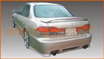 Accord 4Dr - Rear Bumper - Bayspeed. - Honda Accord 4DR Bay Speed Black Window Rear Bumper - 3022BW