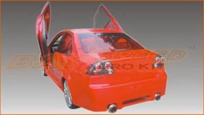 Civic 4Dr - Rear Bumper - Bayspeed. - Honda Civic 4DR Bay Speed Black Window Rear Bumper - 3031BW
