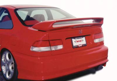 Wings West - 2pc Tunnel Twin Wing Led Light Spoiler