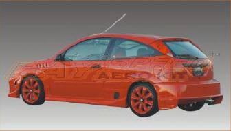 Focus 4Dr - Rear Bumper - Bayspeed. - Ford Focus Bayspeed Blitz Style Rear Bumper - 3087B