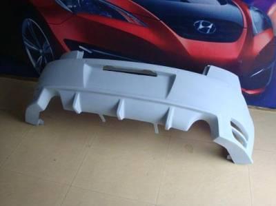 3 4Dr - Rear Bumper - Bay Speed - Mazda 3 Bay Speed BS Rear Bumper - FRP - 3097BS