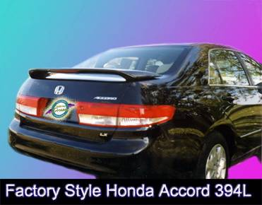 Spoilers - Custom Wing - California Dream - Honda Accord 4DR California Dream OE Style Spoiler with Light - Unpainted - 394L