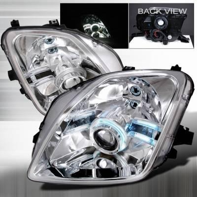 Headlights & Tail Lights - Headlights - Custom Disco - Honda Prelude Custom Disco Chrome CCFL Halo Projector Headlights - 3LHP-PL97-ABM