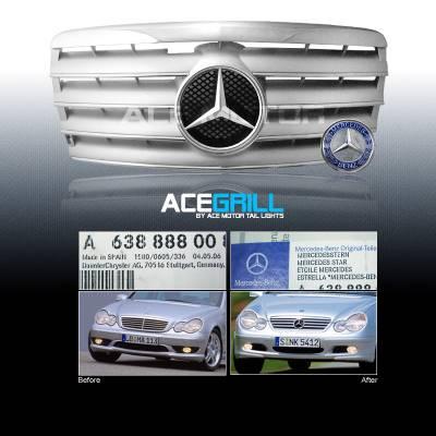 Grilles - Custom Fit Grilles - Custom - Euro W124 Grille 300E 400E