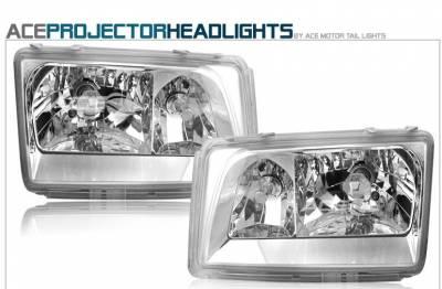 Headlights & Tail Lights - Headlights - Custom - Chrome Clear Headlights - 300E 400E