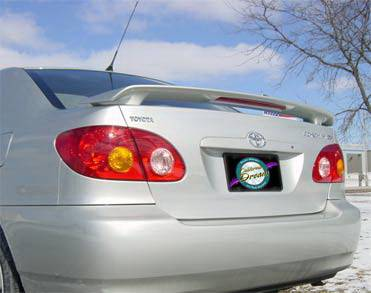 Spoilers - Custom Wing - California Dream - Toyota Corolla California Dream OE Style Spoiler with Light - Unpainted - 402L