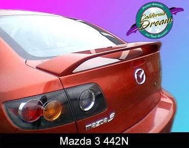 Spoilers - Custom Wing - California Dream - Mazda 3 California Dream OE Style Spoiler - Unpainted - 442N
