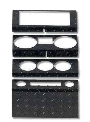 Car Interior - Dash Covers - Warrior - Jeep Wrangler Warrior Dash Panel - 2 Door Dash Panel Overlay - Power Windows