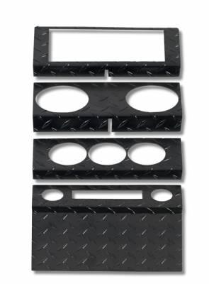 Car Interior - Dash Covers - Warrior - Jeep Wrangler Warrior Dash Panel - 2&4 Door Dash Panel Overlay - Manual Windows