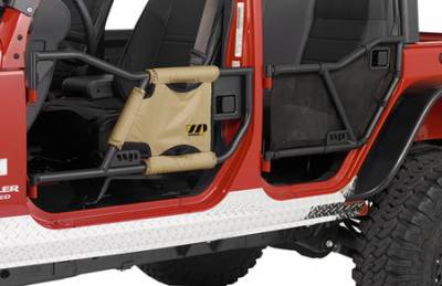 Wrangler - Doors - Warrior - Jeep Wrangler Warrior Tube Door Mesh Cover - 90775
