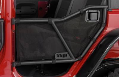Wrangler - Doors - Warrior - Jeep Wrangler Warrior Rear Tube Door Mesh Cover - 90777