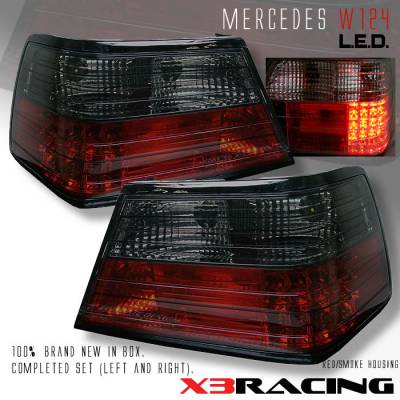 Headlights & Tail Lights - Led Tail Lights - Custom - Red Smoke LED Taillights - 300E 400E 500E