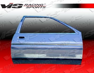 Corolla - Doors - VIS Racing - Toyota Corolla VIS Racing OEM Style Carbon Fiber Door - Pair - 84TYCOR2DOE-025C