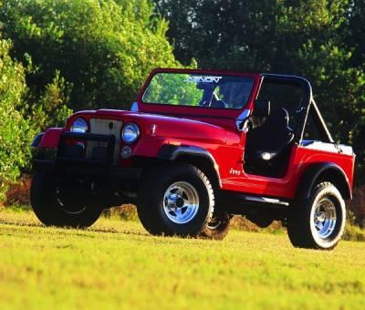 CJ6 - Fender Flares - Xenon - Jeep CJ Xenon Traditional Urethane Fender Flare Kit - 8260