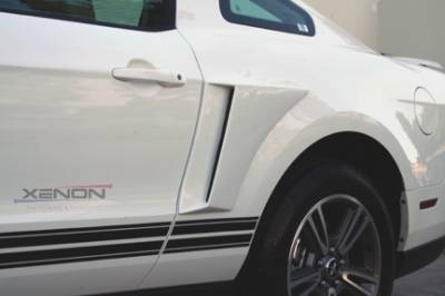 Mustang - Fender Flares - Xenon - Ford Mustang Xenon Rear Body Scoop Kit with Black Vinyl Insert - Left & Right - 12810