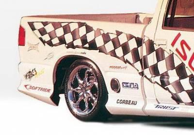 Body Kits - Fender Flares - Wings West - Chevrolet S10 Wings West Custom Style Quarter Flare - Left Rear - 890019