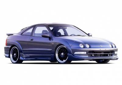 Integra 2Dr - Fender Flares - Wings West - Acura Integra 2DR Wings West Extreme Fender Flare Set - 7PC - 890631