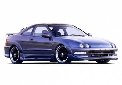 Integra 2Dr - Fender Flares - VIS Racing - Acura Integra 2DR VIS Racing Extreme Fender Flare Set - 7PC - 890631