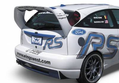 Focus ZX3 - Fender Flares - Wings West - Ford Focus ZX3 Wings West WRC Style Fender Flare - Left Rear - 890845