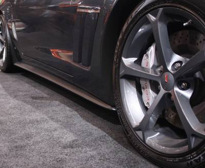 Corvette - Side Skirts - ACS - Chevrolet Corvette ACS ZR1 Rockers with Mud Flap - 27-4-023