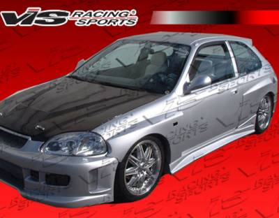 Civic 2Dr - Fender Flares - VIS Racing - Honda Civic 2DR VIS Racing Quest Rear Add-On Fender Flares - 96HDCVC2DQST-006