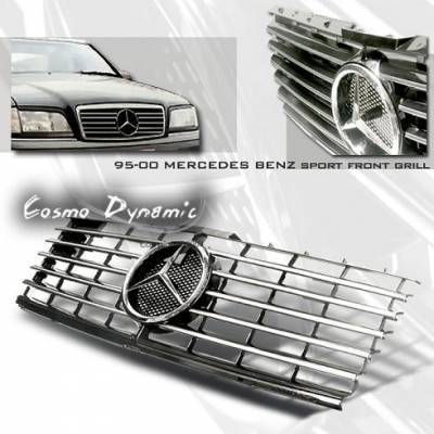 Grilles - Custom Fit Grilles - Cosmo - W202 C-Class Grille Insert 95-00