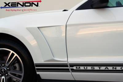 Mustang - Fenders - Xenon - Ford Mustang Xenon Urethane Front Fender Reverse Scoop Kit - Left & Right - 12820