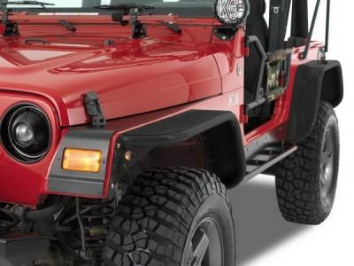 Wrangler - Fenders - Warrior - Jeep Wrangler Warrior Front Fender Rock Protector - 91602