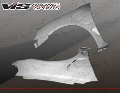 Civic 2Dr - Fenders - VIS Racing - Honda Civic 2DR & 4DR VIS Racing Laser Fenders - 01HDCVC2DLS-007