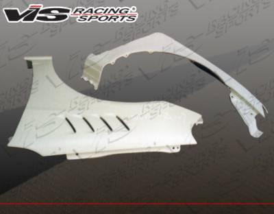 Civic 2Dr - Fenders - VIS Racing - Honda Civic 2DR & 4DR VIS Racing Z3 Fenders - 01HDCVC2DZ3-007