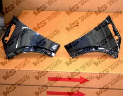Cooper - Fenders - VIS Racing - Mini Cooper VIS Racing OEM Style Carbon Fiber Fenders - 02BMMC2DOE-007C