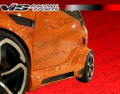 ForTwo - Fenders - VIS Racing. - Smart ForTwo VIS Racing Max Widebody Front Fenders - 08SMFR22DMWB-007